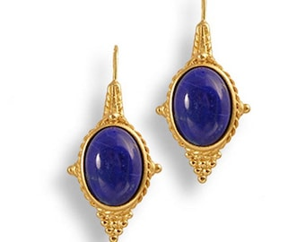 Lapis Egyptian Style Earrings - Victorian - Ancient Egypt