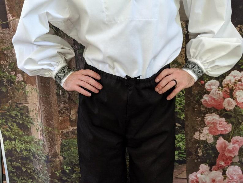 Renaissance Fair In Stock SCA Trews Rapier Basic Drawstring Fencing Pants