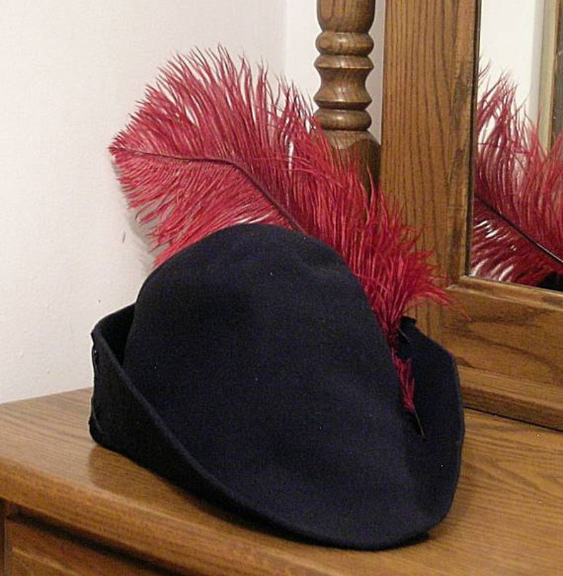 9634e9c7c33 Felt Bycocket Laced Gothic Hat Hunter s Cap SCA