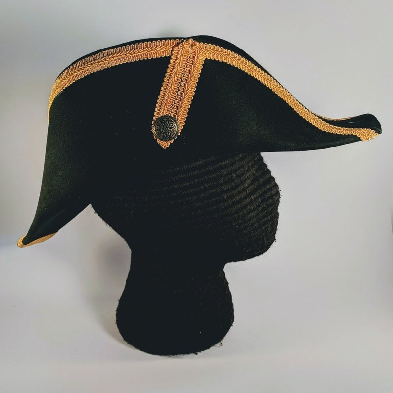5268a460f1b Bicorne with Gold Trim American Cocked Hat War of 1812