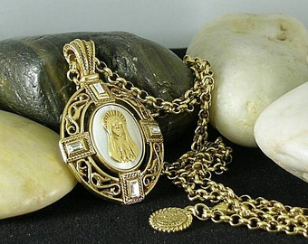 Blessed Virgin Mary Praying Necklace - Renaissance - Vatican Library Collection