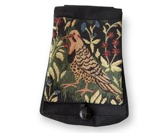 Bird Tapestry Belt Pouch - Mille Fleurs -  Renaissance - Victorian