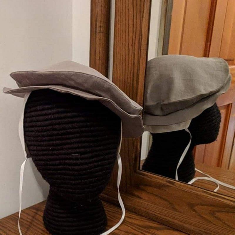 006cf85f40546 Summer Linen Tudor Hat - Elizabethan Flat Cap - Renaissance - 8 Colors