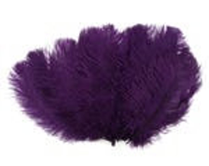 Purple Medium Ostrich Drab Feather - Dyed Plume
