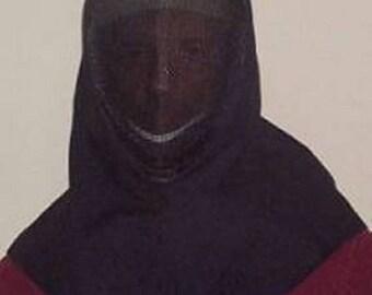 In Stock! Overmask Fencing Hood - Gipsy Peddler SCA Rapier Armor Drape