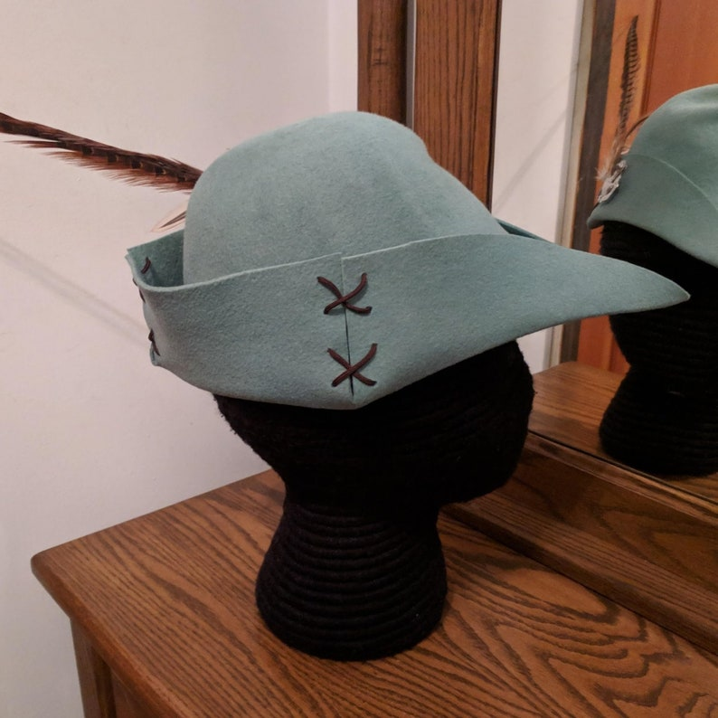 659db611c77 Cocky Rooster Thyme Green Bycocket Pheasant Felt Cap SCA