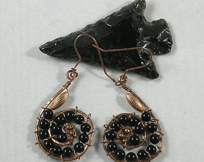 Copper Head Snake - Sacred Spiral - Obsidian Dragonglass - 1st Chakra