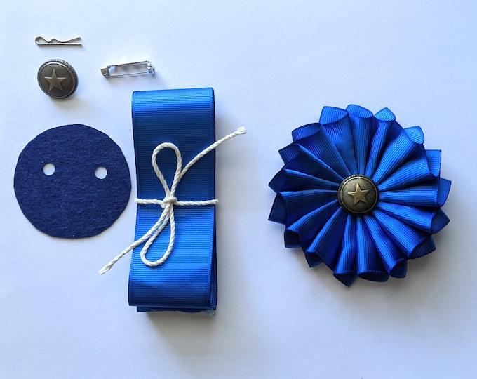 DIY Kit & PDF - Pleated Cockade Tutorial and Supply Kit - Cockade Pattern