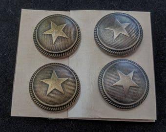 Star Shank Buttons - American - Western - SCA Heraldry