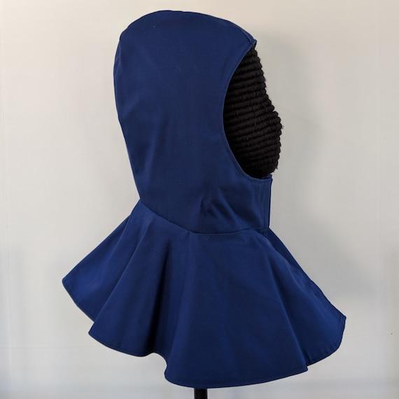 In Stock! Dark Blue Undermask Fencing Hood - SCA Rapier Armor
