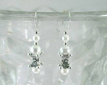 Pearl Earrings with Heart - Stars - Moon