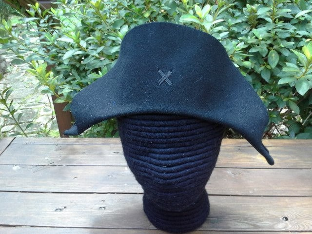 e21c72b12a4 Plain Bicorne - Shaped Front - American Cocked Hat - War of 1812 - Napoleon