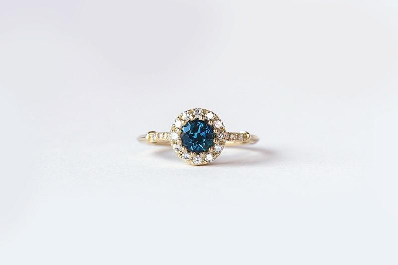 3f258c5e75cf70 Montana Sapphire Engagement Ring 5.4mm Montana Sapphire   Etsy
