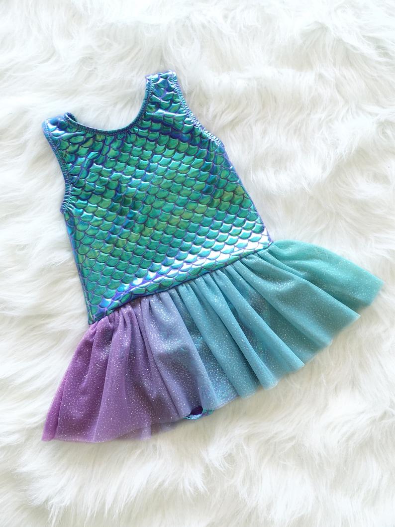 0656ec624050 Mermaid tutu mermaid leotard mermaid party dress baby