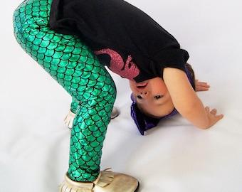 Little Mermaid Leggings, capris, shorts - Baby Toddler kid -Fish Scale Leggings- mermaid leggings- mermaid tail- mermaid fin- fish scale pan