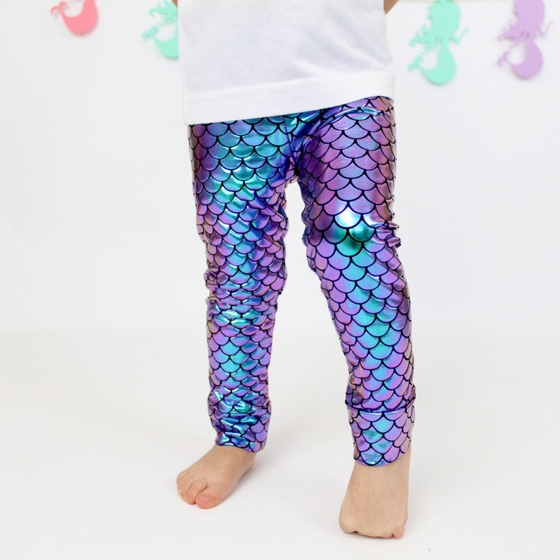 997c2fccfd1b5e Little Mermaid Leggings magical mermaid scales Baby Toddler | Etsy