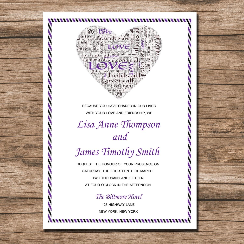 Plantilla de invitación de boda para imprimir descargar al | Etsy