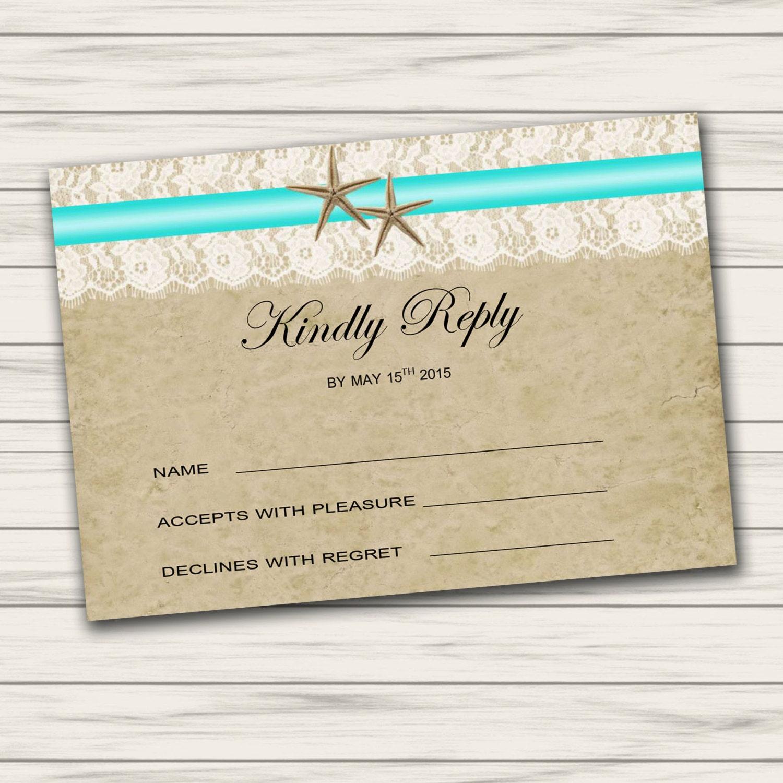 Boda plantilla de tarjeta de RSVP tarjeta de RSVP para | Etsy