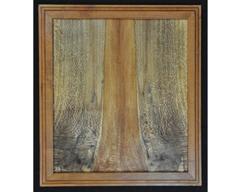 Wall Art - Figured Sycamore Panel with Cherry Wood Frame