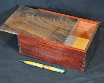 Treasure Box, Black Walnut and Purple Heart