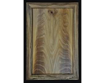 Wall Art - Figured Elm Panel in a Spalted White Oak Frame