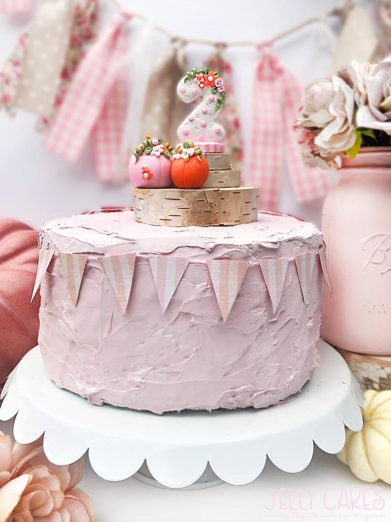 Fall Birthday Cake Topper For Girls Babys 1st