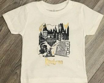 224865a0e Childs T-shirt | Hogwarts Tee | Harry Potter Inspired | Kids Shirt | Youth Harry  Potter Hogwarts Inspired Storybook Shirt