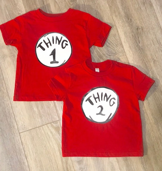 Thing 1 Thing 2 Inspired Childrens Shirts Kids Babies Etsy