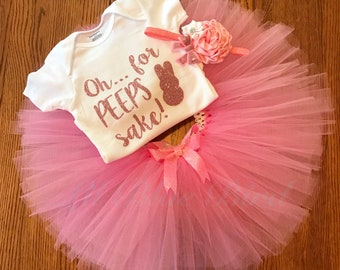 Oh... For Peeps Sake! Easter Tutu Outfit