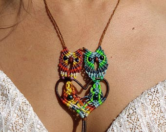 Necklace with pair of owls