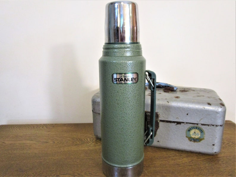 Vintage Stanley 1 Quart Thermos - Aladdin 'Stanley' Thermos - Stainless  Steel Lined - Hot/Cold Thermos - Hunting - Camping - Tailgating