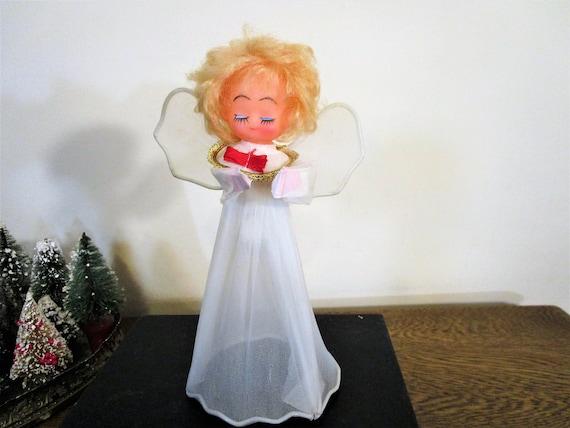 Christmas Angel Tree Topper.Vintage Angel Tree Topper Angel Christmas Tree Topper Blonde Christmas Angel