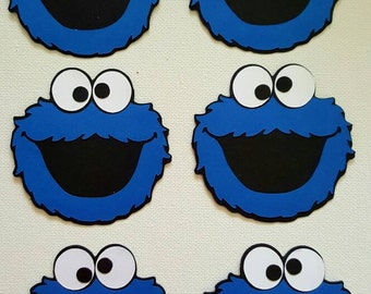 Cookie Monster Die Cut Set of 6