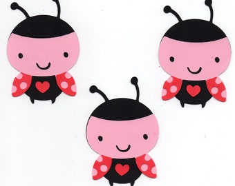 Ladybug die cut set piece set of 3