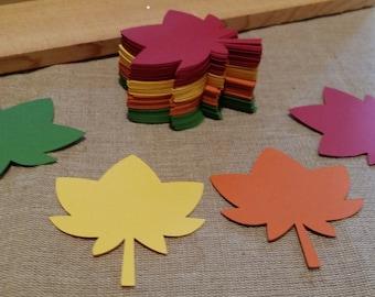 Fall Leaves Die Cut set of 24 Choose your colors, Thanksgiving decor, Autumn Leaves Die Cuts, Autumn Decor, Leaf Die Cut