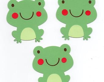 Frog die cut piece set of 3