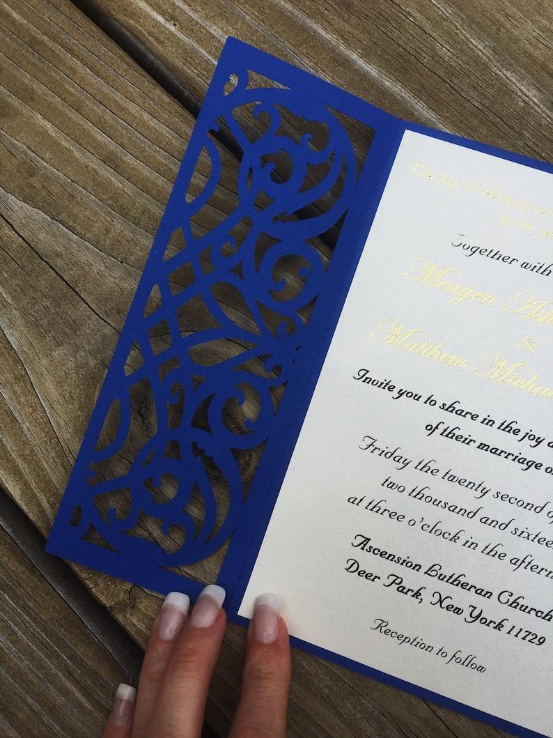 laser cut wedding invitation bifold card wedding  etsy