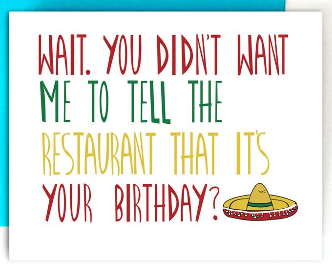 Funny Birthday Card, Funny Greeting Card, Birthday Card, Greeting Card, Blank Birthday Card, Funny Card, Sarcastic Birthday Card