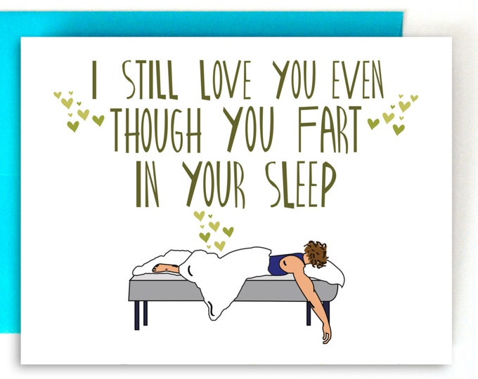 Funny Valentines Card, Valentines Day Card, Anniversary Card, Card for Boyfriend, Card for Girlfriend,Card for Him, Love Card, Fart Card