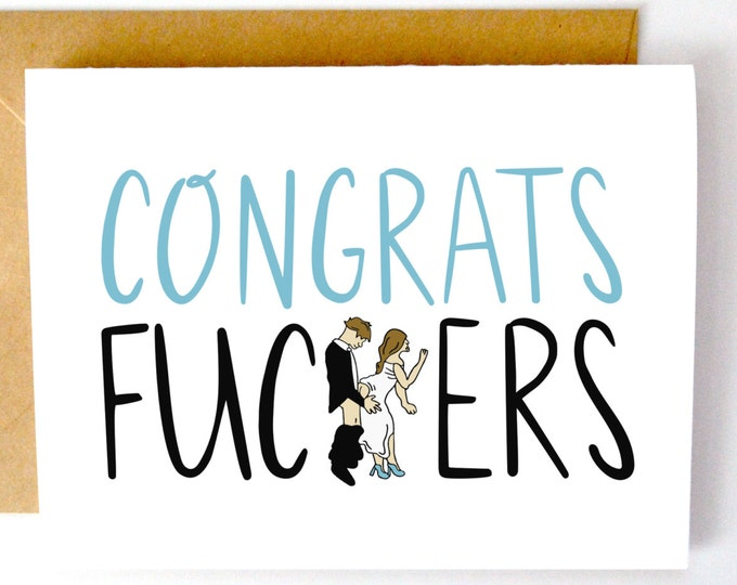 Congrats Fuc*ers Wedding Card