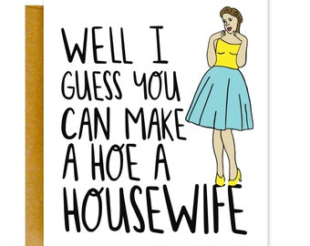 Funny Bridal Shower Card, Wedding Shower Card, Wedding Congrats Card, Engagement Card, Bride Card, Card for Newlyweds, Card for Wedding