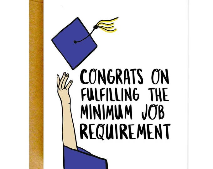 Funny Graduation Card, Graduation Card, Funny Congrats Card, Grad Card, College Graduation Card, Funny Card, High School Graduation Card
