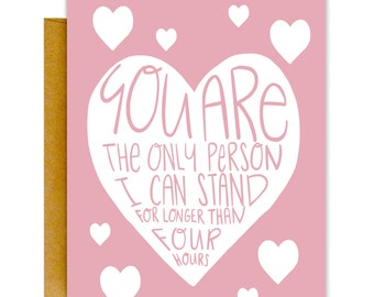 Funny Valentines Day Card, Valentines Card, Funny Love Card, Greeting Card, Blank Greeting Card, Funny Card, Love Card, Valentine Card