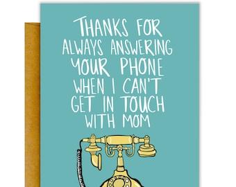 Answering Dad Card