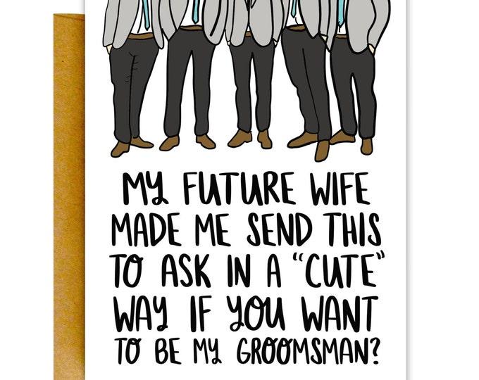 Cutesy Groomsman
