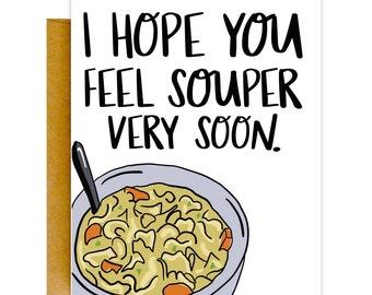 Get Well Soon Card, Funny Get Well Card, Sick Card, Get Well, Encouraging Card, Illness Card, Cancer Card, Empathy Card, Funny Sickness Card
