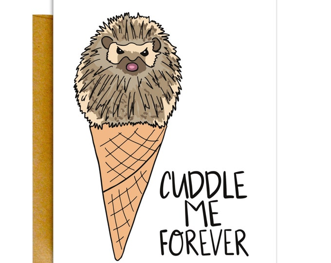 Funny Valentines Card, Valentines Day Card, Funny Love Card, Card for Boyfriend, Cuddle Me, Card for Husband, Card for Him, Card for Her