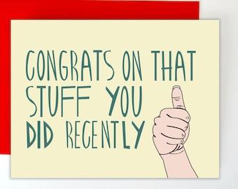 Funny Congrats Card, Graduation Card, Funny Congrats Card, Greeting Card, Blank Greeting Card, Funny Card, High School Graduation Card