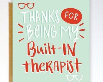 Funny Mothers Day Card, Funny Mom Card, Mothers Day Card, Therapist Greeting Card, Card for Mom, Funny Card, Mom Card, Mother Card