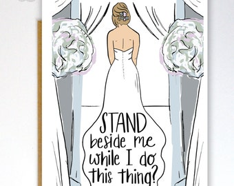 Will You Be My Bridesmaid Card, Funny Bridesmaid Card, Maid of Honor Card, Wedding Card, Bridesmaid Card, Bridesmaid Proposal Card